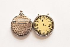 Clock brooch antique rare clock brooch pocket watch by ANNEOLA, $15.00
