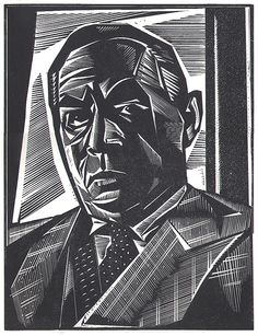 Erich Maria Remarque; limited-edition portrait by Stephen Alcorn