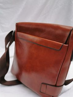 Messenger Genuine Leather Bag suitable for Men & Women. Leather Backpack, Leather Bag, Messenger Bag, Satchel, Brown, Bags, Women, Handbags, Leather Backpacks