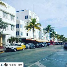 #Repost @nadine1189 with @repostapp.  First Miami Impressions #OceanDrive #beautiful #ArtDecoDistrict