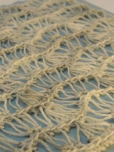 Ravelry: Waves pattern by Kim Guzman, a drop stitch crochet design