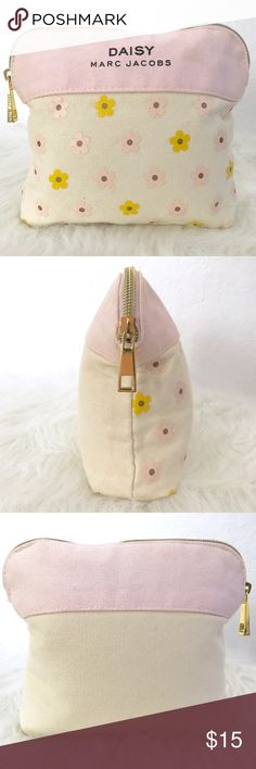 Marc Jacobs Pink & Cream Canvas Cosmetic Case Marc Jacobs Pink & Cream with Yellow & Pink Daisies Canvas Cosmetic Case. Used condition. Normal wear.  • Firm Price • Bundle For Discount •   • No Trade Requests Please • Marc Jacobs Bags Cosmetic Bags & Cases