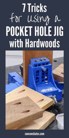 Sometimes hardwoods can crack when using a pocket hole jig. Proper spacing, using the correct pocket screws, and lubricating the screws can prevent cracking. Woodworking Guide, Popular Woodworking, Woodworking Techniques, Woodworking Projects Plans, Fine Woodworking, Woodworking Quotes, Woodworking Garage, Woodworking Classes, Diy Furniture Plans
