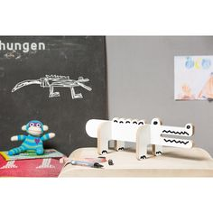 Colour-In Wooden Crocodile-product
