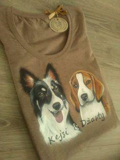 Ručne maľované psíky podľa fotky by Zuzy handpainted