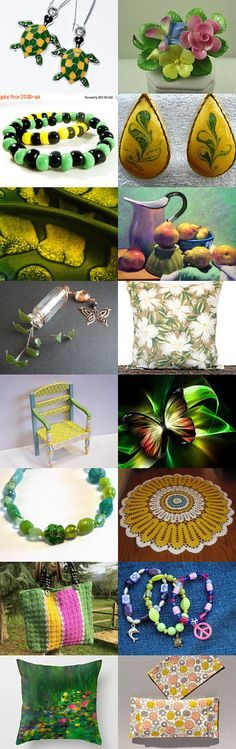 TEMPT TEAM Treasury Yellow and Green by Carol on Etsy--Pinned with TreasuryPin.com