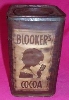 Rare BLOOKER'S Old Dutch Cocoa Tin Enamel Ware, Label Paper, Vintage Tins, Tin Boxes, Cacao, Dutch, Kitchens, Lunch Box, Things To Think About