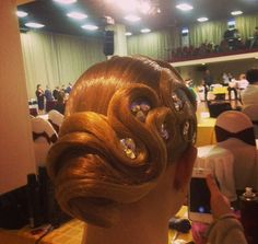 Ballroom dance hair!