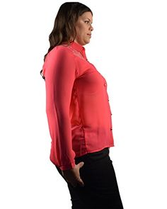 55bcf01a1b4 Plus Size Shirt w  Full Sleeves and Button Down Closure