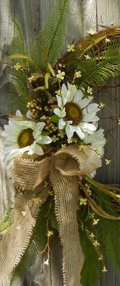 Summer Wreath - Sunflower Door Decor