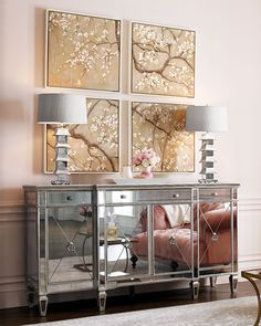 Shop Amelie Mirrored Buffet at Horchow, where you'll find new lower shipping on hundreds of home furnishings and gifts. Mirrored Furniture, Furniture Decor, Hello Furniture, Online Furniture, Mirrored Sideboard, Mirror Buffet, Buffet Console, Buffet Cabinet, Home Living Room