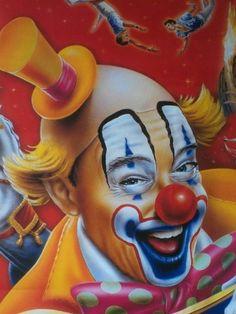 Welcome to my world of Clowns Gruseliger Clown, Scary Clown Mask, Circus Clown, Scary Clowns, Circus Theme, Joker Kunst, Pierrot Clown, Clown Paintings, Clown Shoes