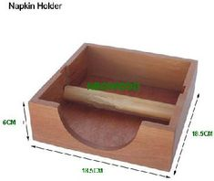 wooden napkin holder 061 Larger Photo