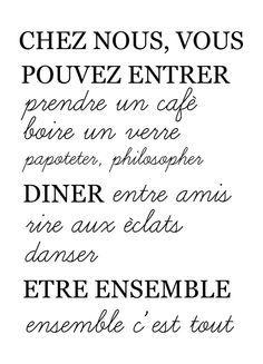 """Affiche """"Chez nous..."""" / Hello"""