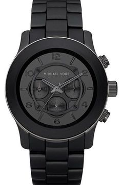 i would love to update my silver MK with this sleek black matte #michaelkorswatches #mkwatches #michaelkorswomen #mkmenswatch #watchmichaelkors