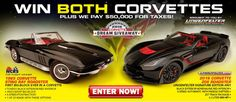 Enter to win two rare Corvettes if you can handle over 1200 HP! Donate $3 or more to help charities and enter to win the rides of your life! http://www.winthevettes.com Promo code: TP0316C