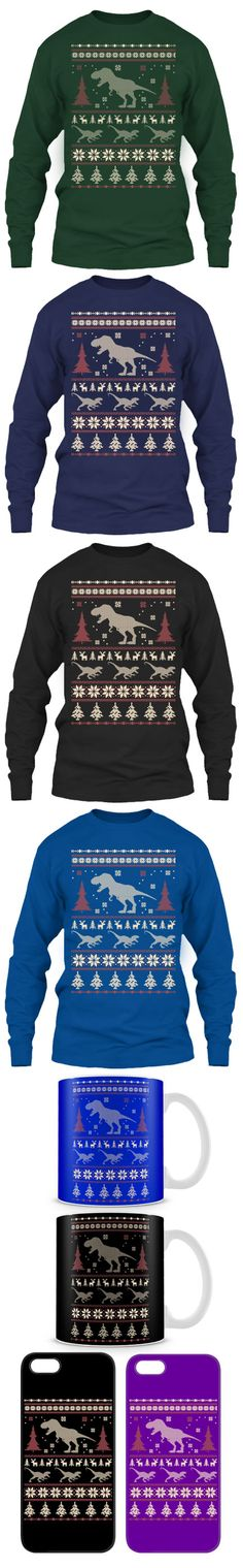 Limited Edition Ugly Christmas Sweater For Jurassic Fans! Click The Image To Buy It Now or Tag Someone You Want To Buy This For.