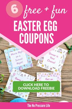 My kids love these free printable Easter egg coupons! They