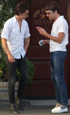 Alex Turner and Miles Kane in LA