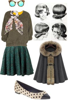 """""""1960's style"""" by rmnvl ❤ liked on Polyvore"""