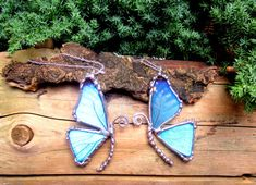 Mother Daughter Friendship Necklace, Blue Morpho Butterfly, BFF on Etsy, $140.00