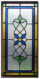 Victorian style - stained glass window panel - customize with your favorite color palette and sized to fit your space