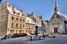 Église Notre-Dame-des-Victoires (Vieux-Québec) l'église qui a vu s'unir mes ancêtres Marie Major et Antoine Roy le 11 septembre 1668.