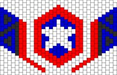 Captain America Mask bead pattern