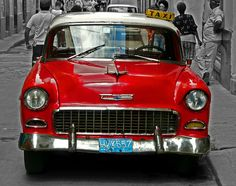 #CubaCar Retro Cars, Vintage Cars, Antique Cars, National Geographic Traveler Magazine, Havana Cuba, Cuban Cars, Import Cars, Camping Gifts, Colored Highlights