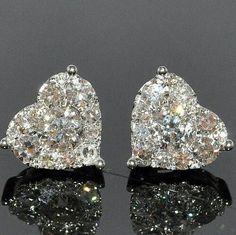 Heart shaped diamonds are a girls best friend.