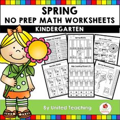 The Spring Math Activities Kindergarten packet is filled with fun and engaging no prep math worksheets that are ideal for morning work, homework, math centers, early finishers and distance learning. Kindergarten Math Activities, Math Resources, Kindergarten Homework, Homeschool Math, Homeschooling, Education Quotes For Teachers, Kids Education, 1st Grade Math, Math Centers