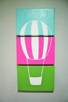 Hot Air Balloon nursery balloon art by FromBelleWithLove on Etsy
