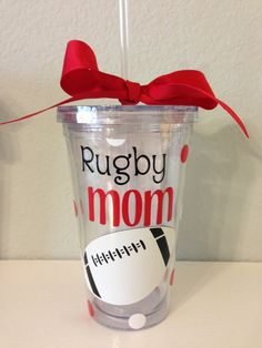 16oz Rugby Mom Tumbler by RoyalTDesigns on Etsy, $14.00 I NEED THIS!!