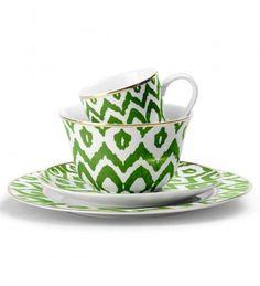 Green Ikat Dinnerware
