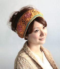 crochet motif hair accessory