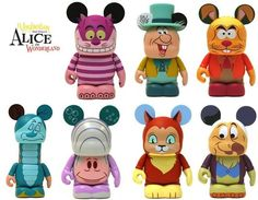 Disney Vinylmation Alice in Wonderland Series - Cheshire Cat, Mad Hatter, March Hare, Caterpillar, Oyster Baby, Mystery Chase Dinah & Dodo