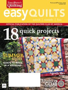 Summer 2009 issue of Fons & Porter's Easy Quilts magazine