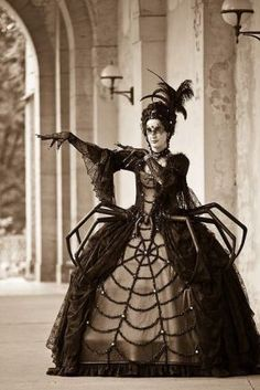 26 Best Vintage Halloween Costumes Inspiration19 Costume Halloween, Spider Costume, Halloween Makeup Looks, Halloween Photos, Diy Costumes, Halloween Outfits, Diy Black Widow Costume, Black Widow Diy, Halloween Vintage