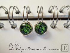 felt&ribbon: Love Earth earrings