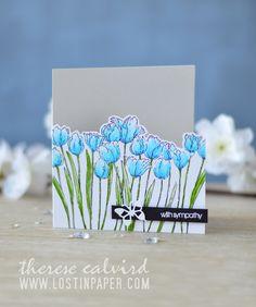 Lostinpaper - Penny Black - Tulip Queue - Snippets (card video) 1