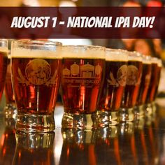 August first is National IPA Day. A great place to celebrate is at Stone Brewery, a San Diego craft beer maker known for strong IPAs.