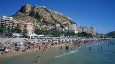 Playa El Postiguet de Alicante