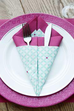 Serviettes de tables - DIY avec AVA!