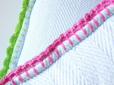 How to edge pillows or anything else, kids socks, add sleeves to tank tops for winter, add to pant legs that have gotten to short on kids, add to diy t-shirt jackets, the uses are endless, just keep adding on rows in any stitch you like until you reach desired length.  designs are endless.