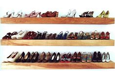 shoe organization floating shelves ShoeCase Your Shoes In Style: DIY Approach to Decorative Closet Expansion