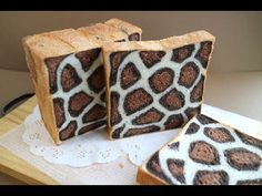 How to Make Leopard Print Bread 豹紋吐司   麵包製作   Homemade Sandwich Bread - Josephine's Recipes 177 - YouTube Homemade Sandwich Bread, Sandwich Bread Recipes, Rice Cookies, Leopard Cake, Milk Bun, Giraffe Cakes, Baking Buns, Bread Art, Bread Shaping