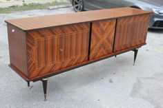 French Art Deco Exotic Macassar Ebony Buffet, Light Color image 4