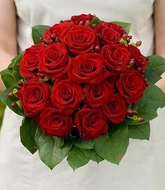 winter wedding flowers | Red Roses Bridal Bouquet Ideas on eWeddingInspiration ...