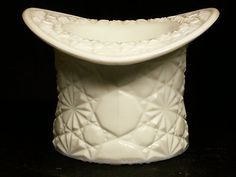 Vintage Fenton Milk Glass Daisy Button Top Hat Opaque White Larger Size Unmarked  $0.99