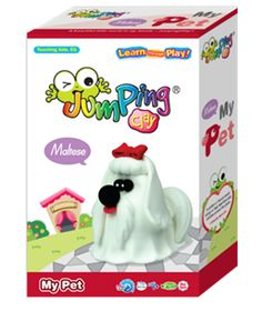 My Pet Maltese - Clay Modeling Kit  Create your very own Maltese Puppy with JumpingClay ~ the world's best air drying modeling clay.
